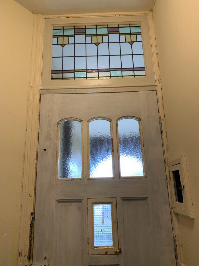 Art deco glas in lood bovenlicht Valkenboskwartier-min
