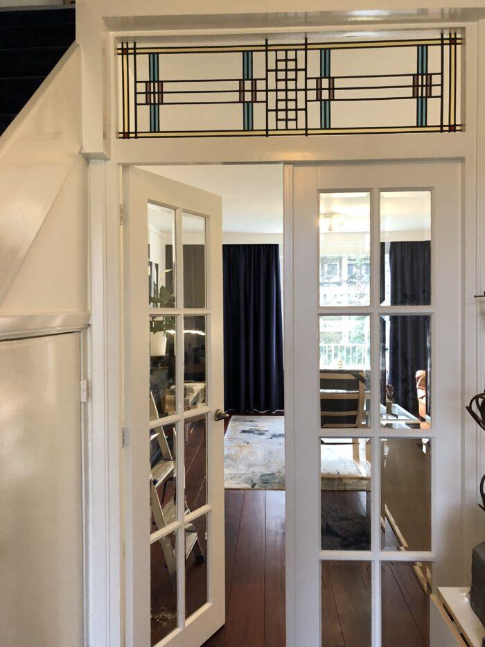 Frank Lloyd Wright stijl bovenlicht Bloemenbuurt-min
